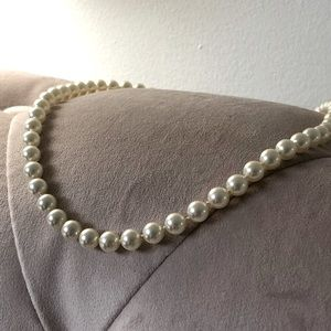 Synthetic Off-White Pearl Necklace
